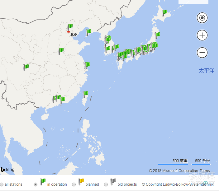中国和日韩地区加氢站密度对比,图片来自H2Staion